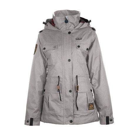 3CS Sentry Women's Snowboard Jacket - Moonrock - Products - Boardworld