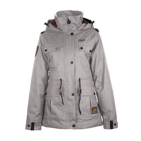 3CS Sentry Women's Snowboard Jacket - Moonrock - Products - Boardworld