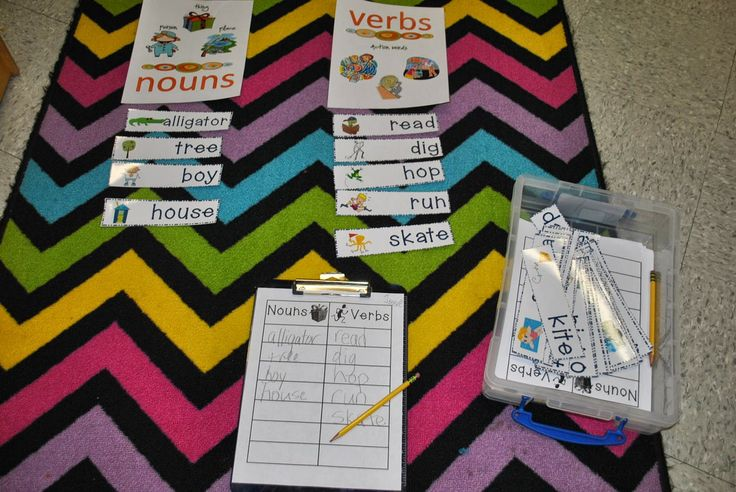 Noun and Verb Sort Incredible K Kids