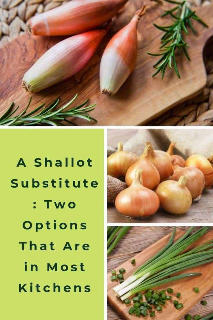 A Shallot Substitute Two Options That Are In Most Kitchens Shallots Vegetable Drawer Scallion Substitute