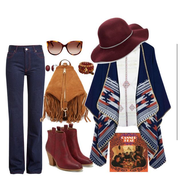 """October sun"" by vera-pataky on Polyvore featuring Calvin Klein 205W39NYC, Vintage Collection, JustFab, Marc Jacobs, Rebecca Minkoff and San Diego Hat Co."