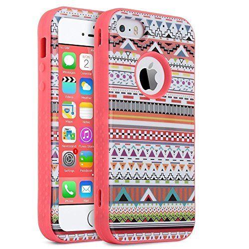 ULAK iPhone 5 iphone 5S funda iphone SE Carcasa Case Cover 3en1 Híbrido Escudo Amortiguadora Modelado Plástico duro con Cubierta suave de Silicona protectora para Apple iPhone 5S / 5 / SE (Tribal-Rosa) - http://www.tiendasmoviles.net/2016/07/ulak-iphone-5-iphone-5s-funda-iphone-se-carcasa-case-cover-3en1-hibrido-escudo-amortiguadora-modelado-plastico-duro-con-cubierta-suave-de-silicona-protectora-para-apple-iphone-5s-5-se-tribal-rosa/
