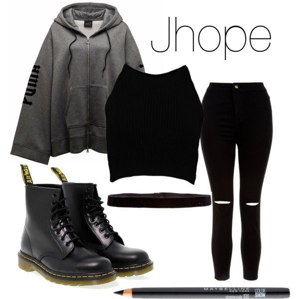 A fashion look from October 2016 by btsreactions featuring Boohoo, New Look, Dr. Martens, Steve Madden ve Maybelline