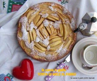 Torta di mele con farina di farro   la cuoca in giallo