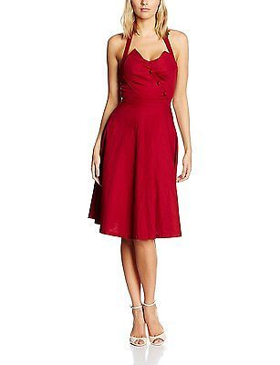 22, Red, Lindy Bop Women's Myrtle Red Dress NEW