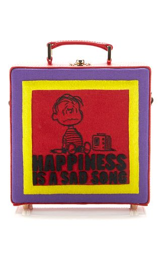Happiness Is A Sad Song Square Bag by OLYMPIA LE-TAN for Pre fall 2016
