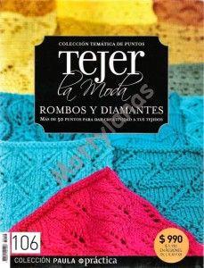 Revista Tejer la moda, esta vez deRombos y diamantes en crochet. Descargar la revistaRombos y diamantes en crochet