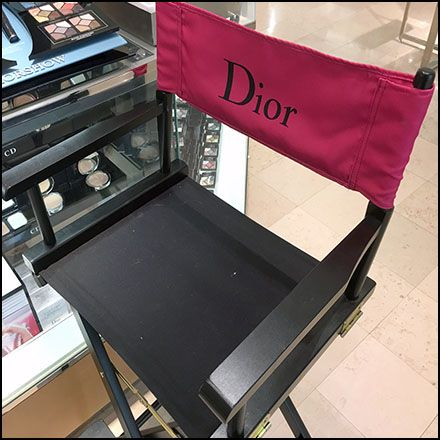 Dior Branded Cosmetics Directors Chair