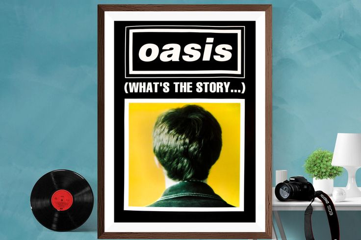 Oasis Music Print poster '' what's the story '' Artwork Matt / Silk , A4 , A3 , A2 by CanvasArt8D on Etsy