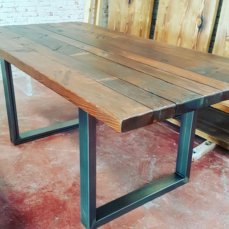 Tavolo in legno massello da cucina artigianale italiano xlab design