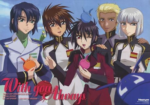 Gundam Seed destiny poster promo Athrun Zala , Kira Yamato , Shinn Asuka , Yzak Joule , Dearka Elsman