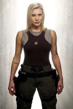 "Kara ""Starbuck"" Thrace from Battlestar Galactica aka Katee Sackhoff. I'm seriously in love with her"