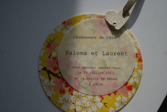 Fleur de pommier dans son atelier: Le faire-part Chic pour un mariage romantique et coloré