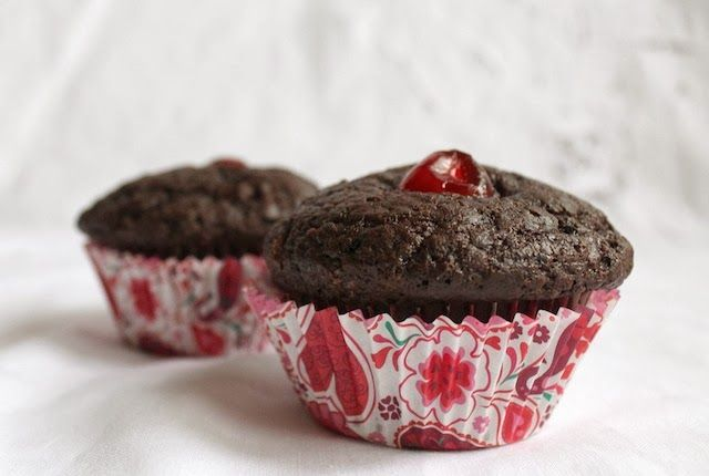 Food Lust People Love: Dark Chocolate Cherry Muffins for #MuffinMonday ...