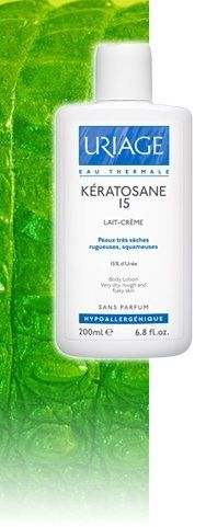 Uriage Keratosane 15 Lait-creme Body Lotion for Very Dry, Rough and Flaky Skin 200 Ml by Uriage. $32.00. Extremely dry areas with flaking and/or roughness.. Face and/or body.. Babies, children and adults (particularly suitable for elderly people). Kératosane 15 has a dual action: Its concentration in Urea (15%) produces a keratolytic action on rough or flaking areas on the body. The presence of moisturizing active ingredients rebuilds the skin, making it soft and smooth.  Ass...