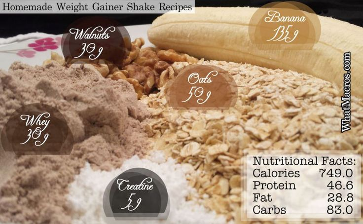Homemade Weight Gainer Shake Recipes