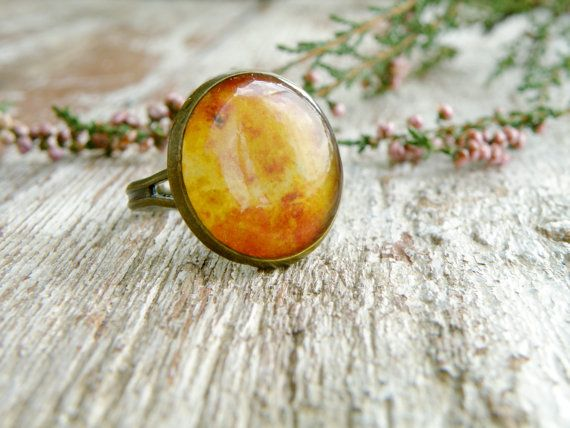 Planet Venus ring Astronomy jewelry Resin ring Space by Eternity31