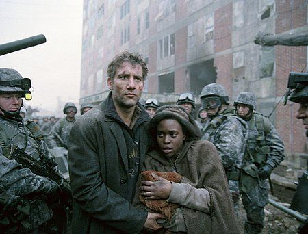Scene where the crying of the first baby born in twenty years causes a temporary lull in fighting between two sides in Children of Men. One of the most powerful onscreen things I've ever seen