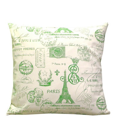 Take a look at this Grasshopper French Stamp Natural Pillow Cover by Scoope on #zulily today!
