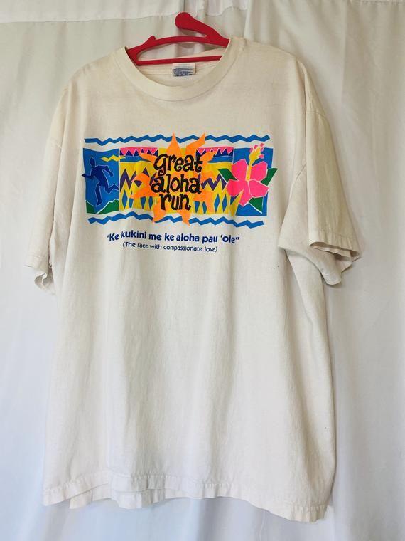 1996 Honolulu Run Single Stitch T Shirt Xl Etsy In 2020 Vintage Shirt Design Types Of T Shirts Shirt Designs