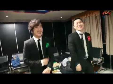 CNBLUE LINE - Sneak peak at Jung Yong Hwa and YDG'a Sha-bi-lab dance~♪ - YouTube