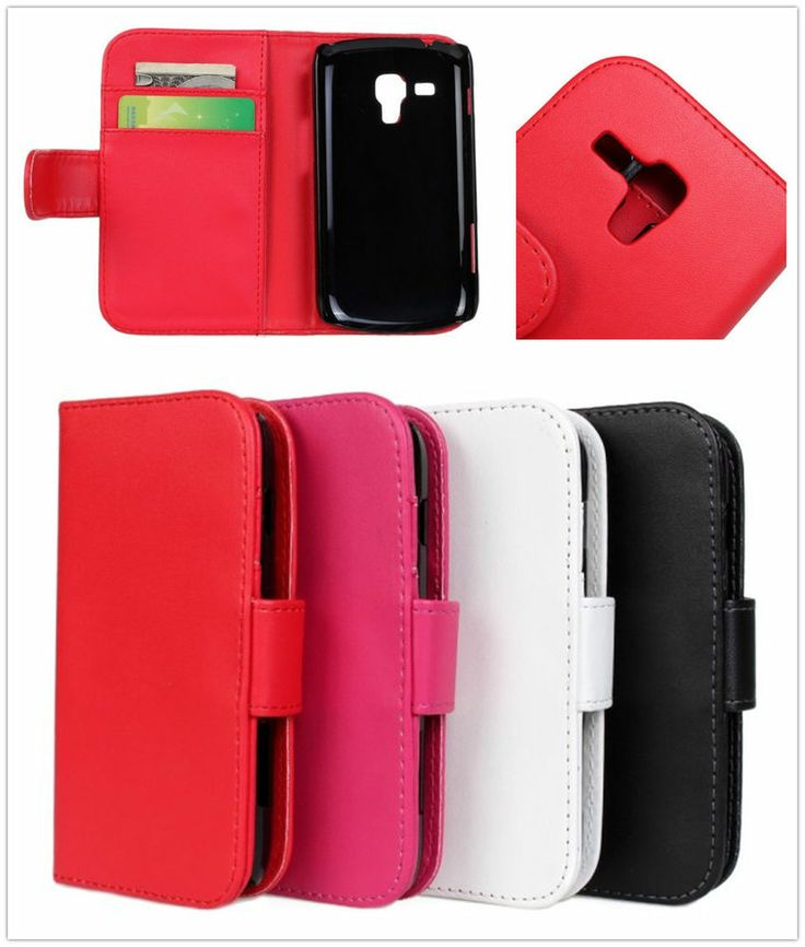 Book Type Wallet Leather Pouch Case for Samsung Galaxy Trend Plus S7580 S7582