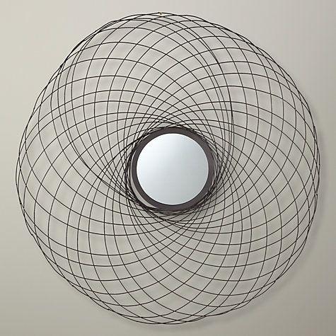 Buy John Lewis Spiro Mirror, Bronze, Dia.86cm Online at johnlewis.com