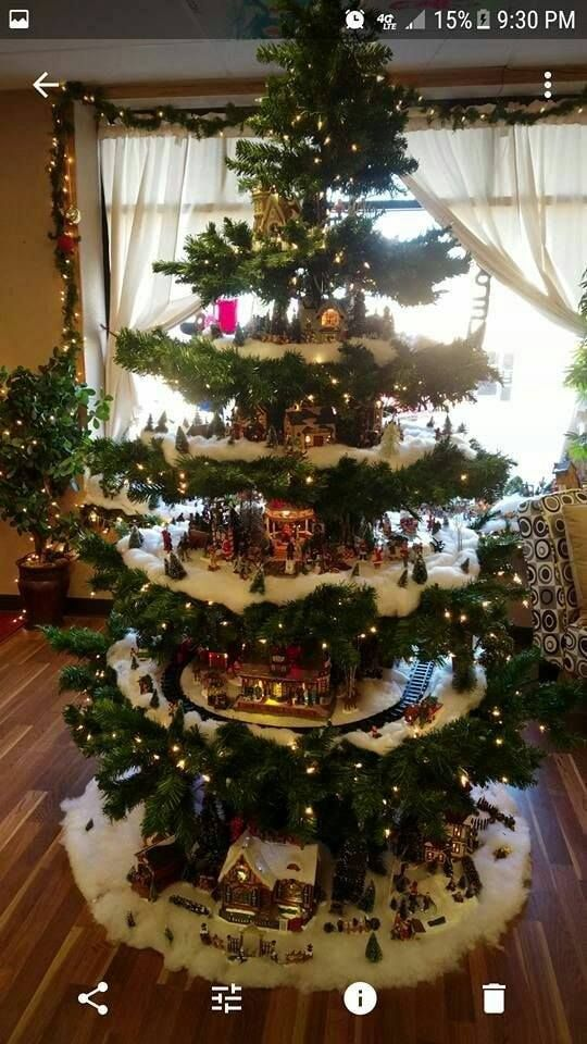 2019 Christmas Village Display Tree Designs