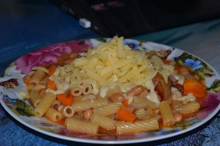 Паста в собственном соку с фасолью и томатным соусом - Andy Chef - блог о еде и путешествиях, пошаговые рецепты, интернет-магазин для кондитеров