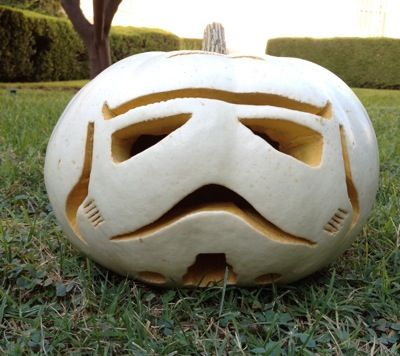 How to Make a Stormtrooper Pumpkin