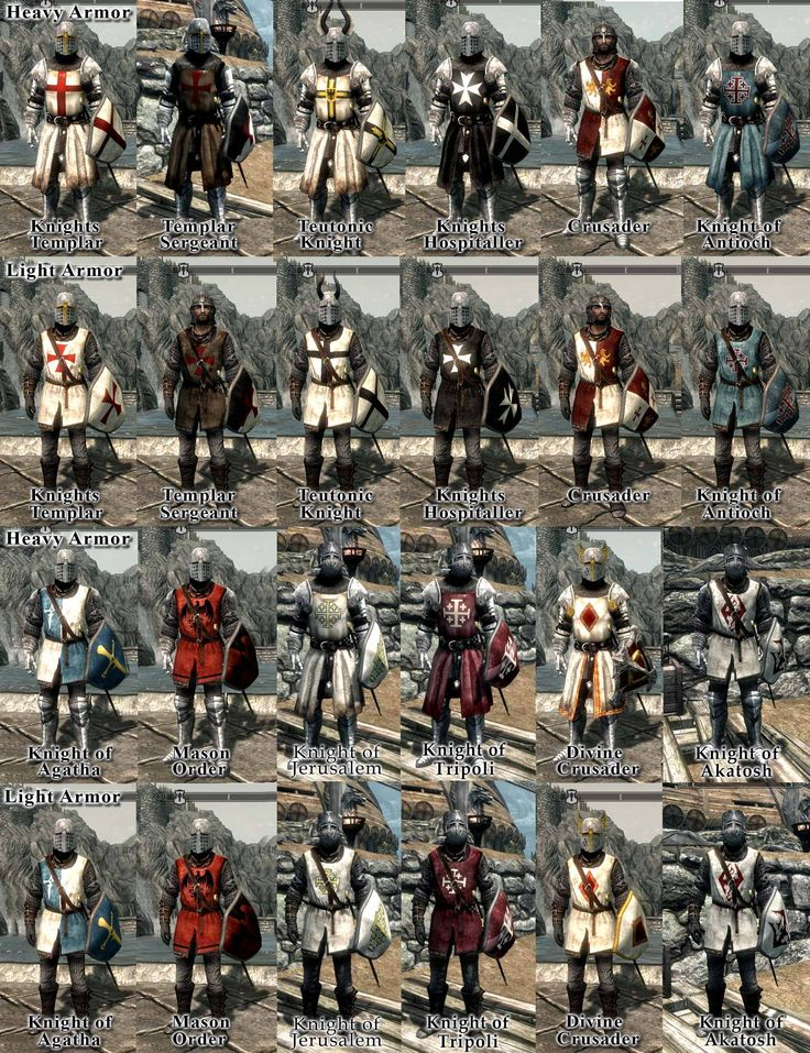 Crusaders Knights Templar Hospitaller Teutonic Chivalry Medieval Warfare Armors at Skyrim Nexus - mods and community