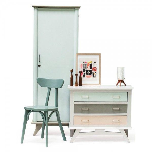 armoire ann es 50 deauville rienacirer vintage. Black Bedroom Furniture Sets. Home Design Ideas