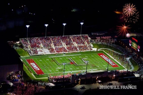 Lamar University - Beaumont, Texas. Two of my daughters twirled on this field!