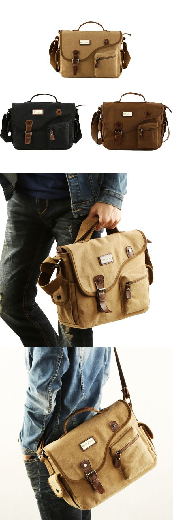 US$36.45+Free shipping. Men Canvas Casual Bag, Outdoor Shoulder Bag, Crossbody Bag, Handbag. Color: Khaki, Black, Coffee. Made Of Canvas.Three usages of huge capacity, what are you waiting for?