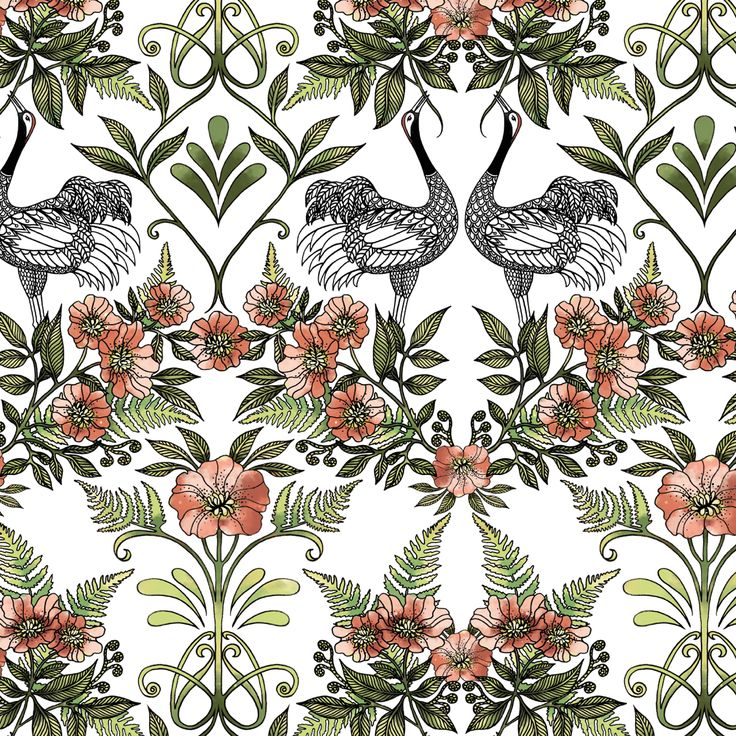 New wallpaper TRANA by Hanna Karlzon for DesignM Collection.