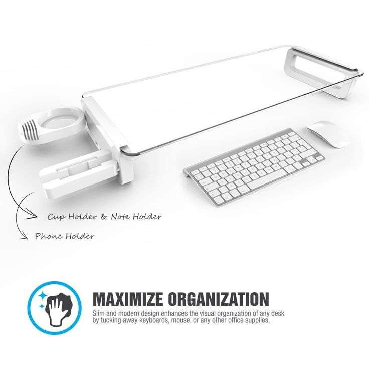 Beautiful Built In 3 Port] Monitor Laptop Stand   Eutuxia® [White] Multi