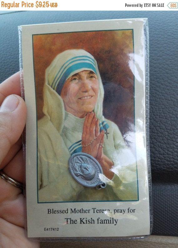 Koop moeder Teresa gebed kaart en hanger door JewelryLover942