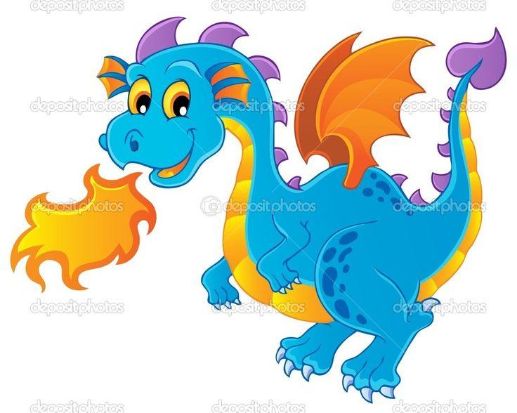 Изображение дракона тема 4 - Стоковая иллюстрация: 12564902
