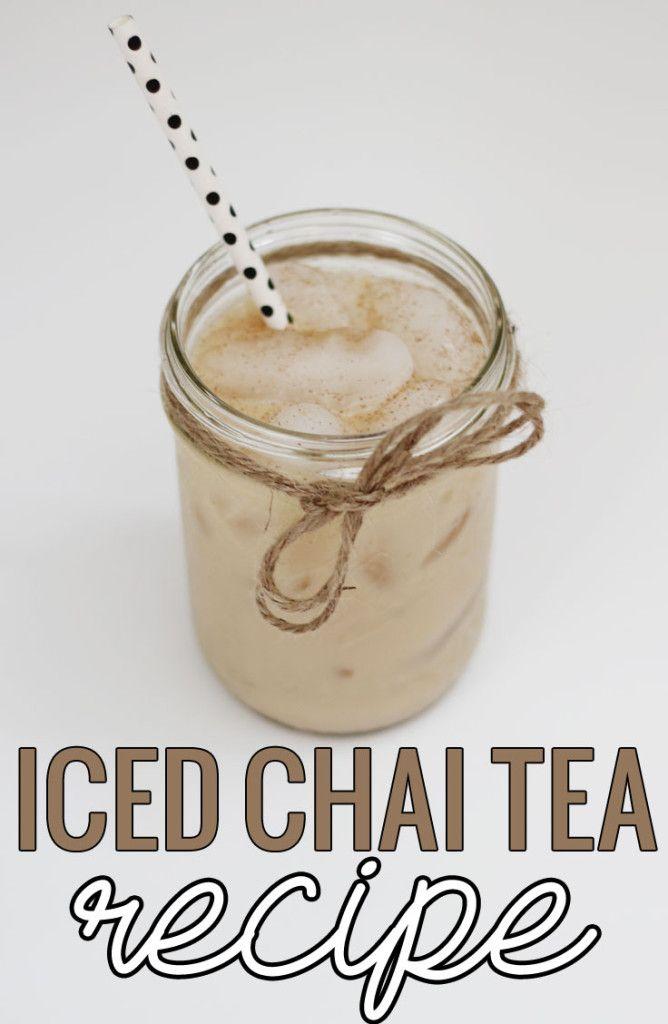 Iced Chai Tea Recipe #TrendTea #shop