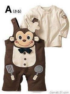 Vestiti del bambino vestiti del bambino 0- 3 mesi, 6- 12 mesi di età 0-1 anni ragazzi autunno abbigliamento bavaglino pantaloni set