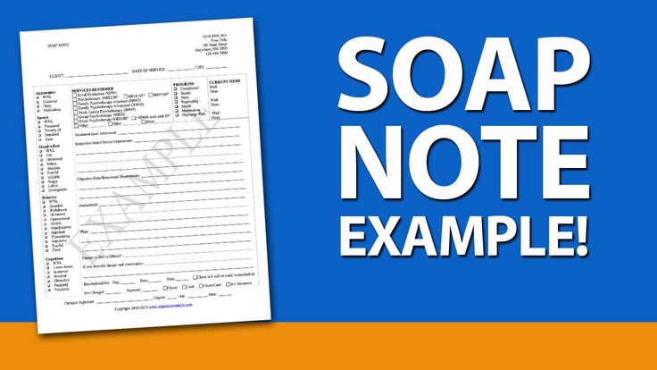 Soap Note Examples for Mental Health Counselors