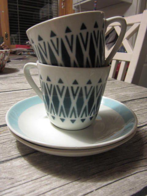 Arabia Finland vintage cups