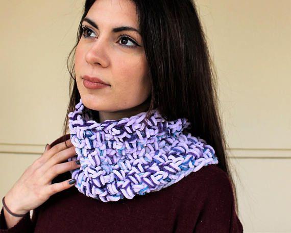 Crochet circle scarf Loop scarf Knit cowl scarf Crochet