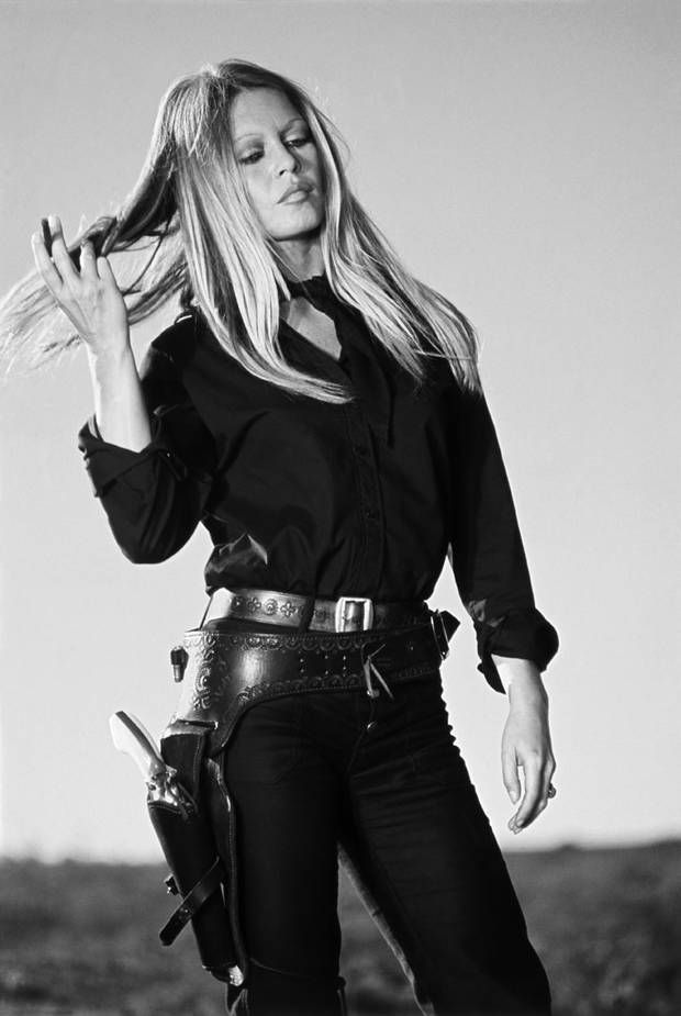 Bardot photographed by Terry O'Neill, on the set of Les Petroleuses, 1971