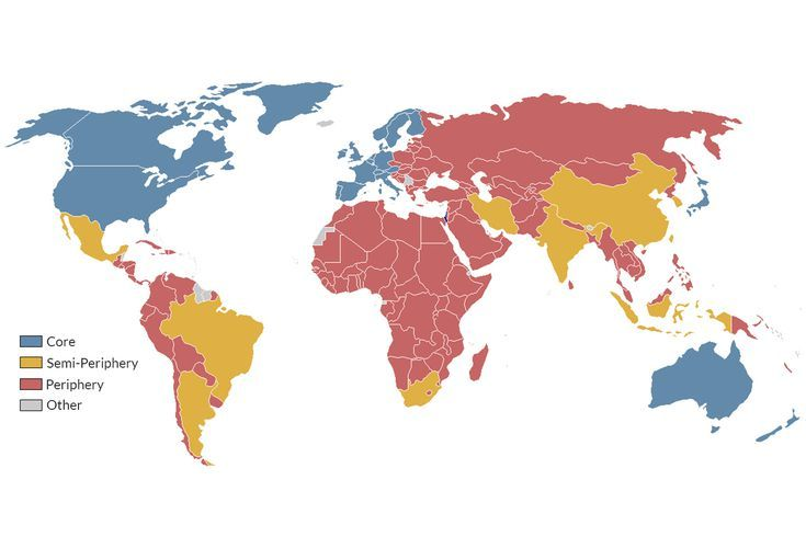 How Does The Core Periphery Theory Divide The World S Countries