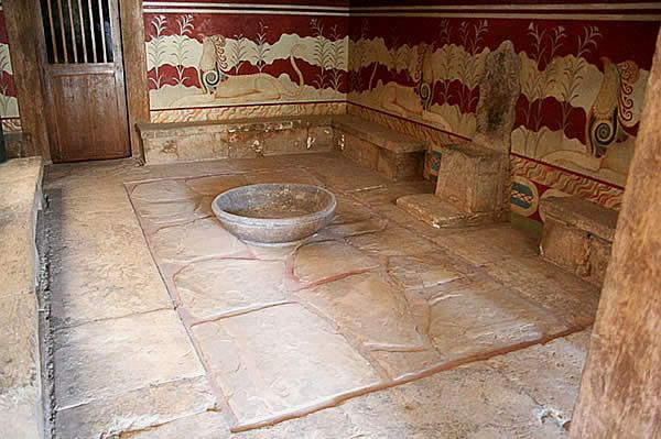 Sala tronowa w Knossos, ok. 1450 BC
