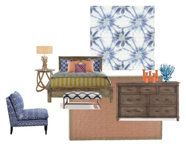 """""""Bonita Beach House"""" by foldingchairdesign on Polyvore featuring interior, interiors, interior design, home, home decor, interior decorating, Kismet, Florence Broadhurst, Collier Campbell and Rockport"""