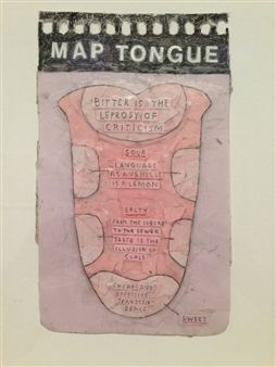 """Map Tongue"" by British artist Simon Evans, 2011."