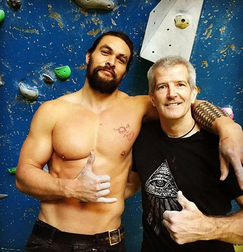 Jason Momoa and his Trainer Mark Twight