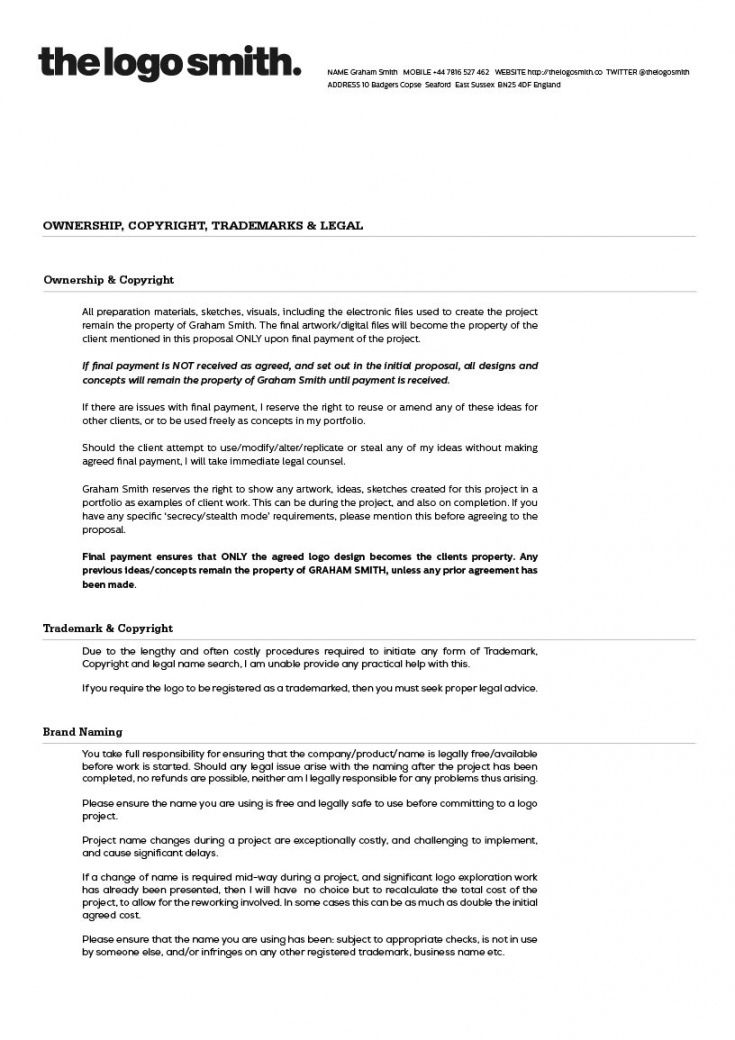 Graphic Design Quotation Template In 2020 Contract Template